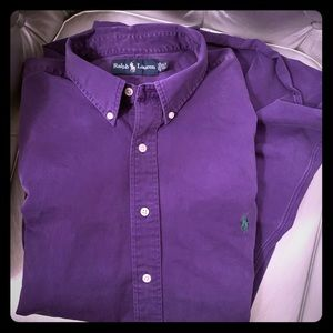Purple Denim Ralph Lauren Button Down 2XL TALL